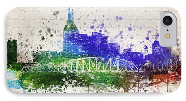 Nashville In Color IPhone 7 Case by Aged Pixel