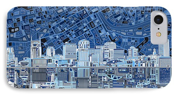 Nashville Skyline Abstract IPhone 7 Case by Bekim Art