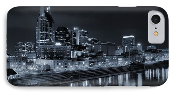 Nashville Skyline At Night IPhone Case by Dan Sproul