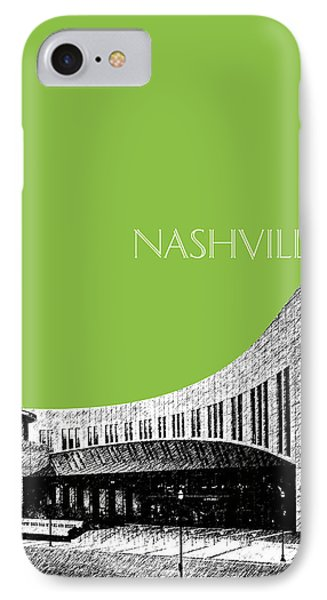 Nashville Skyline Country Music Hall Of Fame - Olive IPhone 7 Case by DB Artist