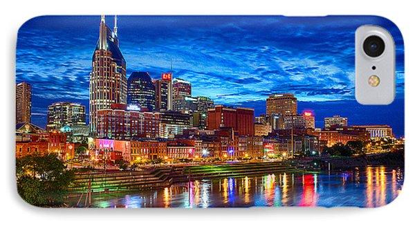 Nashville Skyline IPhone 7 Case by Dan Holland