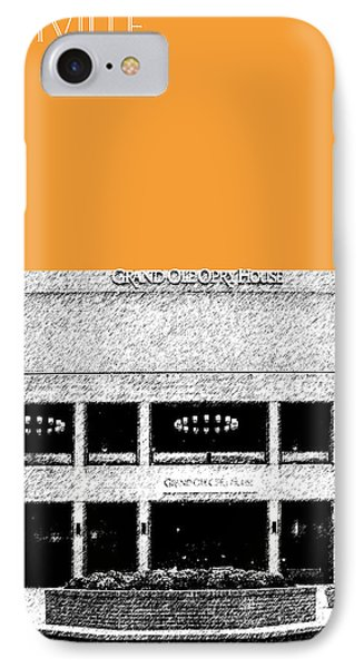 Nashville Skyline Grand Ole Opry - Orange IPhone 7 Case by DB Artist