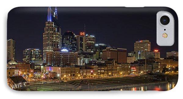 Nashville Skyline IPhone Case by Rick Berk
