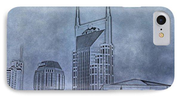Nashville Skyline Sketch Phone Case by Dan Sproul
