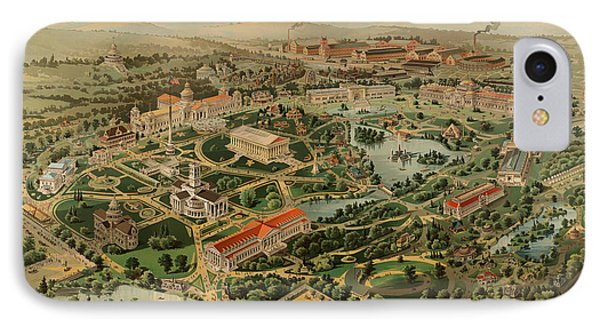 Nashville Tennessee Centennial Exposition Map 1897 IPhone Case by Mountain Dreams