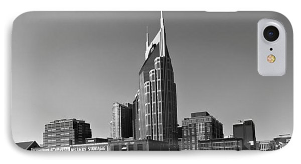 Nashville Tennessee Skyline Black And White Phone Case by Dan Sproul