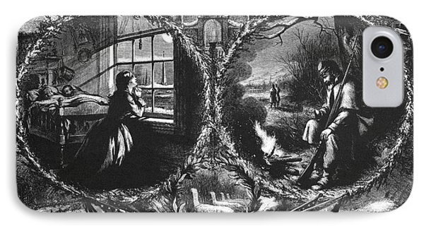 Nast Christmas Eve, 1862 IPhone Case by Granger