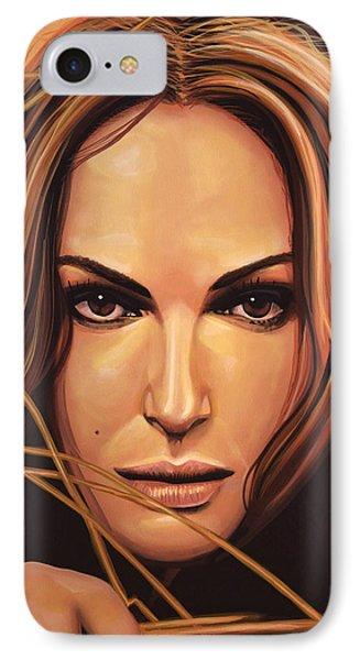 Natalie Portman IPhone Case by Paul Meijering