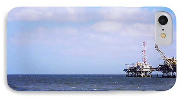 Natural Gas Drilling Platform In Mobile IPhone Case by Panoramic Images