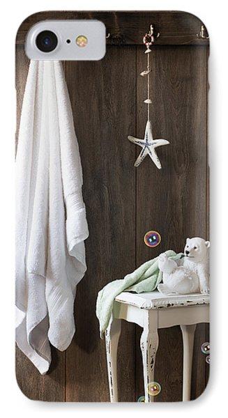Nautical Bathroom Phone Case by Amanda Elwell
