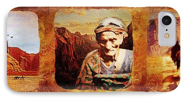 Navajo Triptych  Phone Case by Lianne Schneider