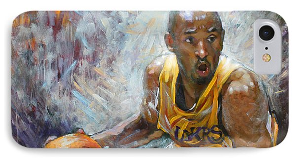 Nba Lakers Kobe Black Mamba IPhone Case by Ylli Haruni
