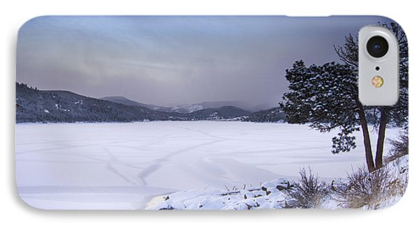 Nederland Colorado Barker Reservoir Winter Scenic View IPhone Case by James BO  Insogna