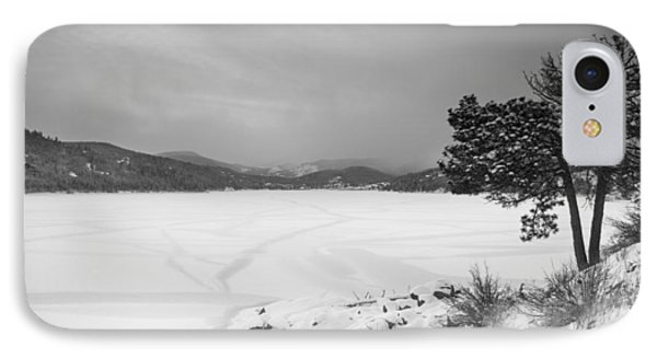Nederland Colorado Barker Reservoir Winter View Bw IPhone Case by James BO  Insogna