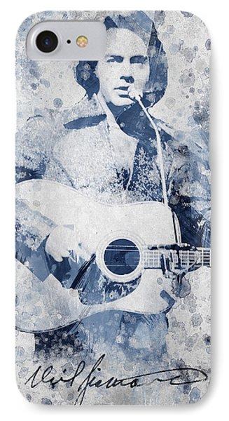 Neil Diamond Portrait IPhone Case by Aged Pixel