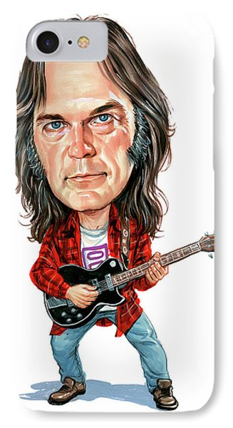 Neil Young IPhone Case by Art