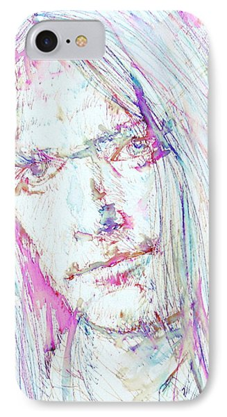 Neil Young - Colored Pens Portrait IPhone Case by Fabrizio Cassetta