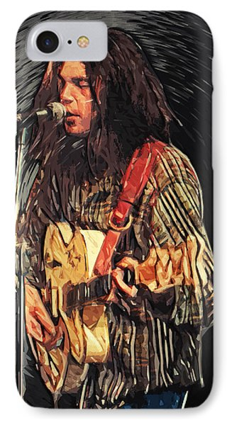 Neil Young IPhone Case by Taylan Soyturk