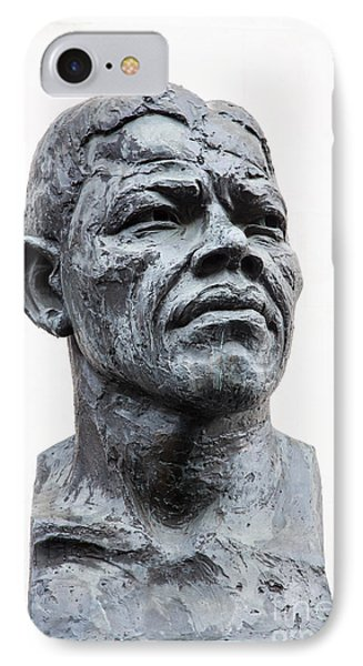 Nelson Mandela Statue IPhone Case by Jane Rix