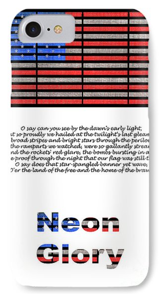 Neon Glory IPhone Case by John Farnan