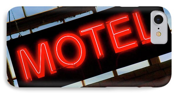 Neon Motel Sign Phone Case by Mike McGlothlen