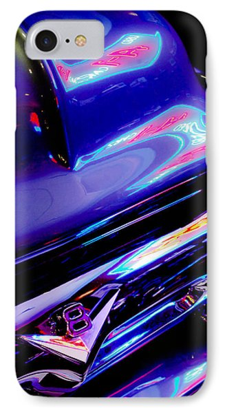 Neon Reflections - Ford V8 Pickup Truck -1044c IPhone Case by Jill Reger