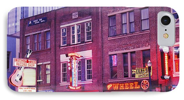 Neon Signs On Buildings, Nashville IPhone Case by Panoramic Images
