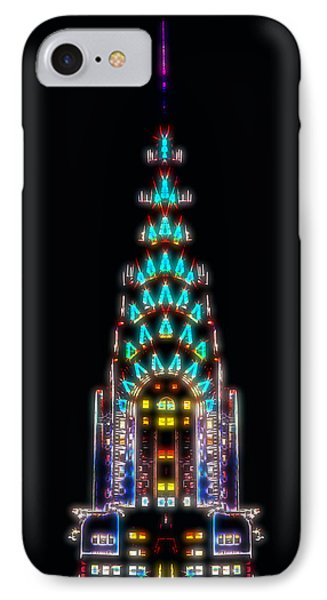Neon Spires IPhone Case by Az Jackson