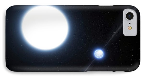 Neutron Star And White Dwarf System IPhone Case by Eso/l. Calcada