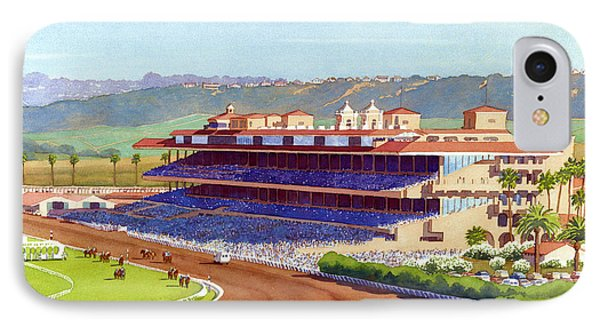 New Del Mar Racetrack IPhone Case by Mary Helmreich