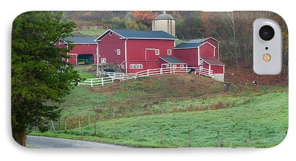 New England Farm Square Phone Case by Bill Wakeley