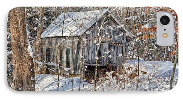 New England Winter Woods IPhone Case by Bill Wakeley