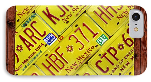 New Mexico State License Plate Map Phone Case by Design Turnpike