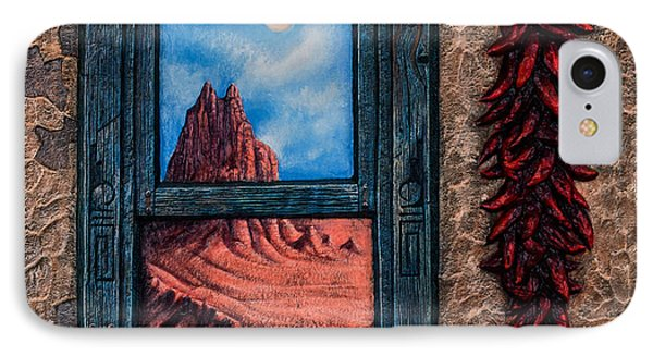 New Mexico Window Gold Phone Case by Ricardo Chavez-Mendez