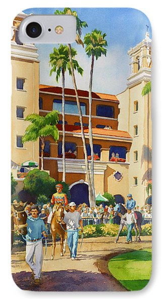 New Paddock At Del Mar Phone Case by Mary Helmreich