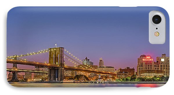 New York City Bridges IPhone Case by Susan Candelario