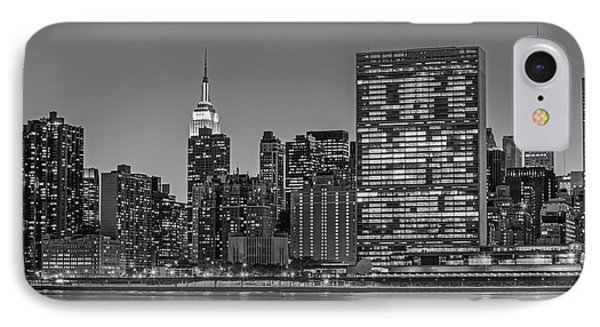 New York City Landmarks Bw IPhone Case by Susan Candelario