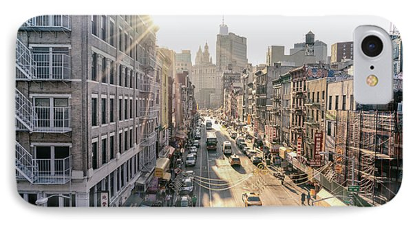 New York City - Sunset Above Chinatown Phone Case by Vivienne Gucwa