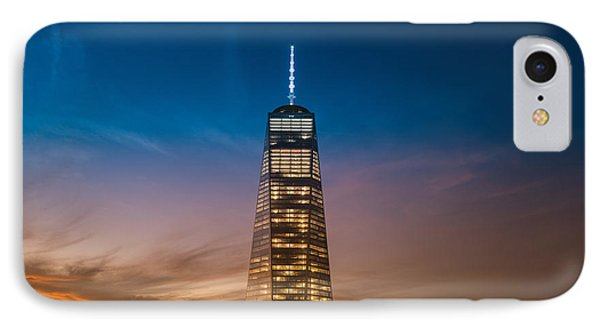 New York City - Sunset And One World Trade Center IPhone Case by Vivienne Gucwa