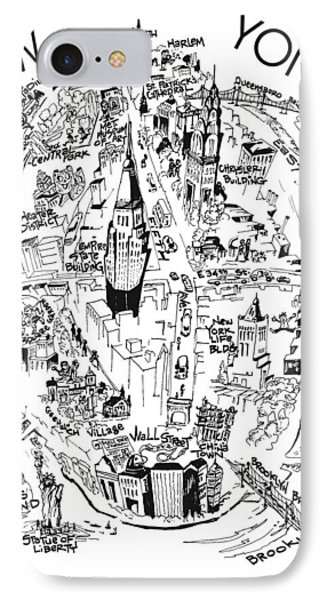 New York City's Points Of Interest IPhone Case by Robert Tiritilli
