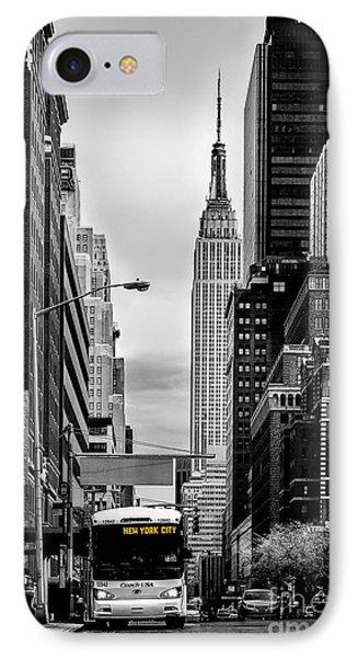 New York Express IPhone 7 Case by Az Jackson