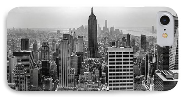 New York Moody Skyline  IPhone Case by Az Jackson