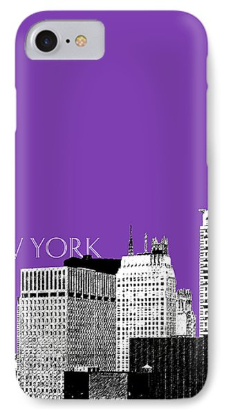New York Skyline Chrysler Building - Purple IPhone Case by DB Artist