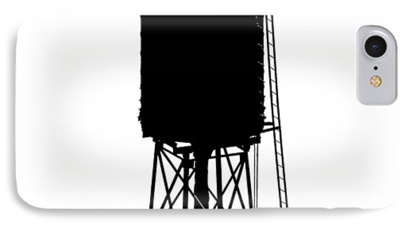 New York Water Tower 17 - Silhouette - Urban Icon IPhone Case by Gary Heller