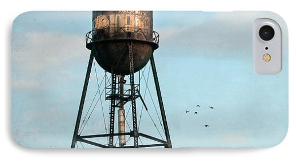 New York Water Tower 7 IPhone Case by Gary Heller