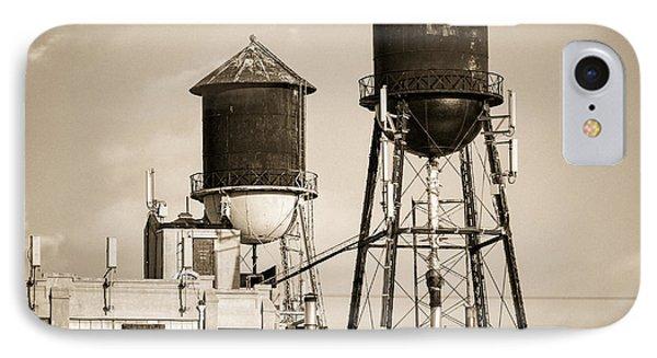 New York Water Tower 8 - Williamsburg Brooklyn Phone Case by Gary Heller