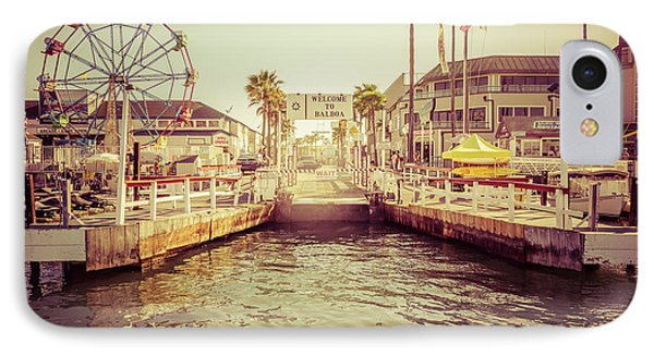 Newport Beach Balboa Island Ferry Dock Photo IPhone Case by Paul Velgos