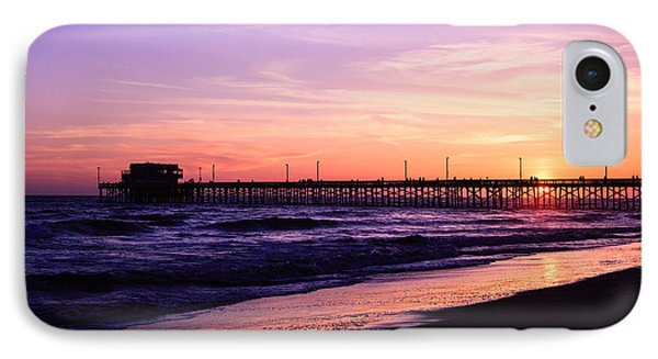 Newport Beach Pier Sunset In Orange County California IPhone Case by Paul Velgos