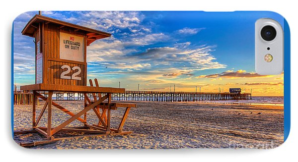 Newport Beach Pier - Wintertime  IPhone Case by Jim Carrell