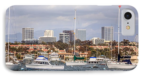 Newport Beach Skyline  IPhone Case by Paul Velgos